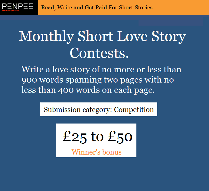 Monthly Short Love Story Contests 2019 - Penpee com